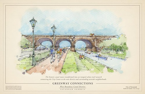 Canal greenway, artists rendering