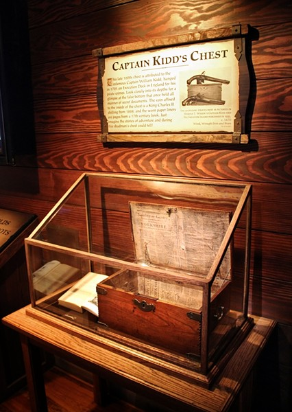 Capt. Kidd's chest, the only verified pirate's chest in existence.