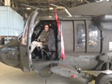 Captain Ethan Miller of the HHC/4-3 Assault Helicopter Battalion represents the sleeker, smarter strategies of a new kind of Army. He also knows what every button does in this Blackhawk helicopter.