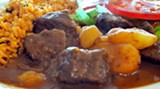 Carne guisada con papas at the new Puerto Rico restaurant on Montgomery Cross Road