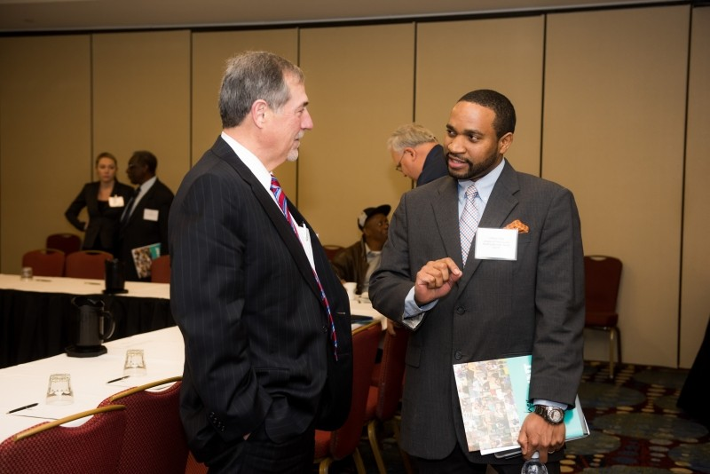 Census director John H. Thompson (l.) met with organizers in Savannah recently. - PHOTO COURTESY OF U.S. CENSUS