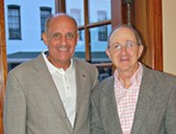 Charles H. Morris (right) with Canyon Ranch Institute President Richard H. Carmona, M.D., M.P.H., FACS, 17th U.S. Surgeon General. Their shared dedication to health and wellness for the people of Savannah is a catalyst for the Canyon Ranch Institute Savannah Partnership (CRISP) programs focused on the Savannah community, including the Canyon Ranch Institute Life Enhancement Program (CRI LEP) with Curtis V. Cooper Primary Health Care, the CRI Healthy Garden at Trustees' Garden, the CRI Healthy Table program at Trustees' Garden, the CRI Theater for Health program at Trustees' Garden, and more.
