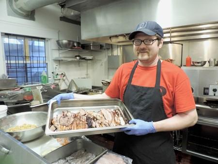 Chef Matt Baldwin with the good stuff.