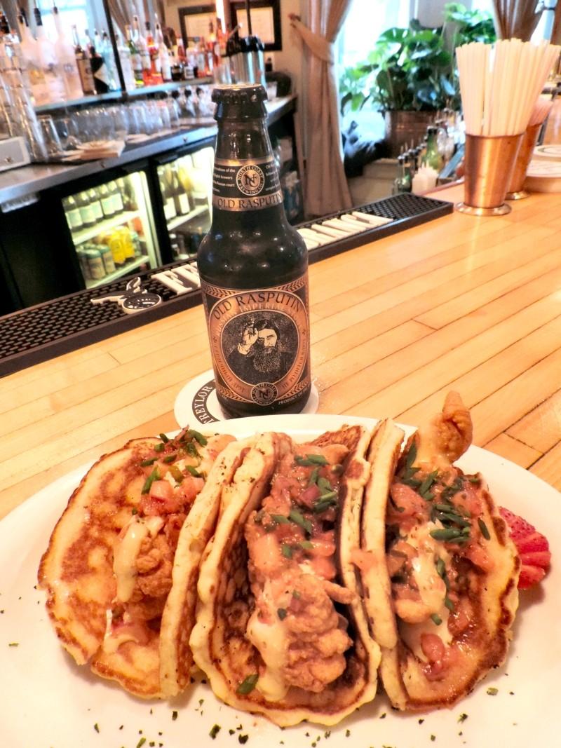 Chef Satterwhite's Chicken 'n' Pancake Tacos.