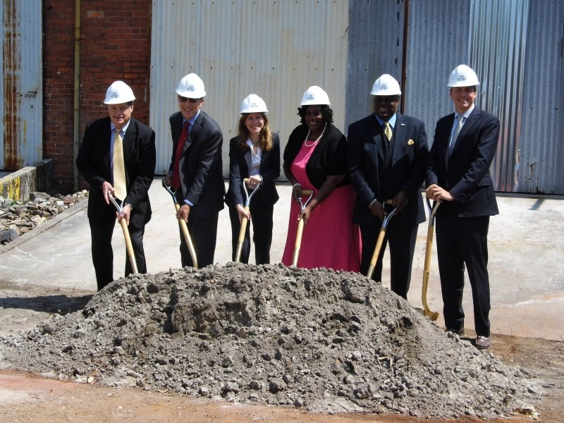 City officials and developers break ground at One West Victory.