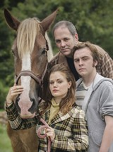CHRLIE RIBBENS/THE COLLECTIVE FACE - Clockwise from top: The cast of Equus includes Mark Rand, Zach Blaylock and April Hayes.