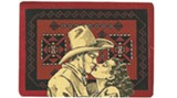 Collages in 'I Should Have Been a Cowgirl' at Gallery Espresso through March 1; this is 'Cowboy Gets Girl'