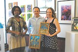 LINDA SICKLER - Cryselle Stewart with Mike and Raquel Ayres at Dimensions Gallery