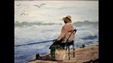 Dragonfly Studio on Tybee hosts a three-man show, reception Sat.; this is 'Gone Fishin' at Chimney Creek' by Larry Williams