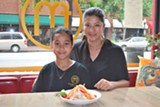 Ele Tran (right, with daughter Helena) keeps it all in the family at the new Flying Monk Noodle Bar on Broughton Street.