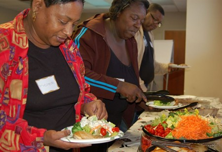 Enjoying great tasting healthy food is a shared experience during the CRI Life Enhancement Program. Choosing one healthy vegetable per day in place of a fried food is a small step toward healthy change that lasts.
