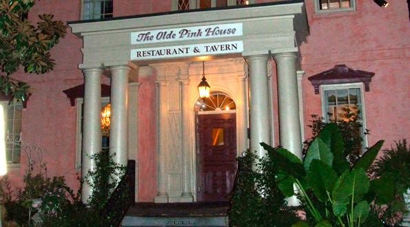 Exterior of the Olde Pink House