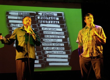 Found Footage Festival co-founders Prueher and Pickett: the gatekeepers of VHS gold.