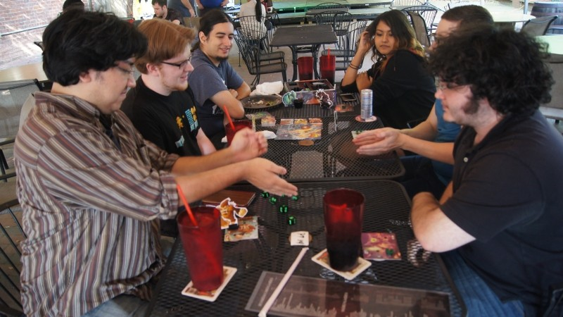 Gamers roll the dice at the Chromatic Dragon - JON WAITS/@JWAITSPHOTO