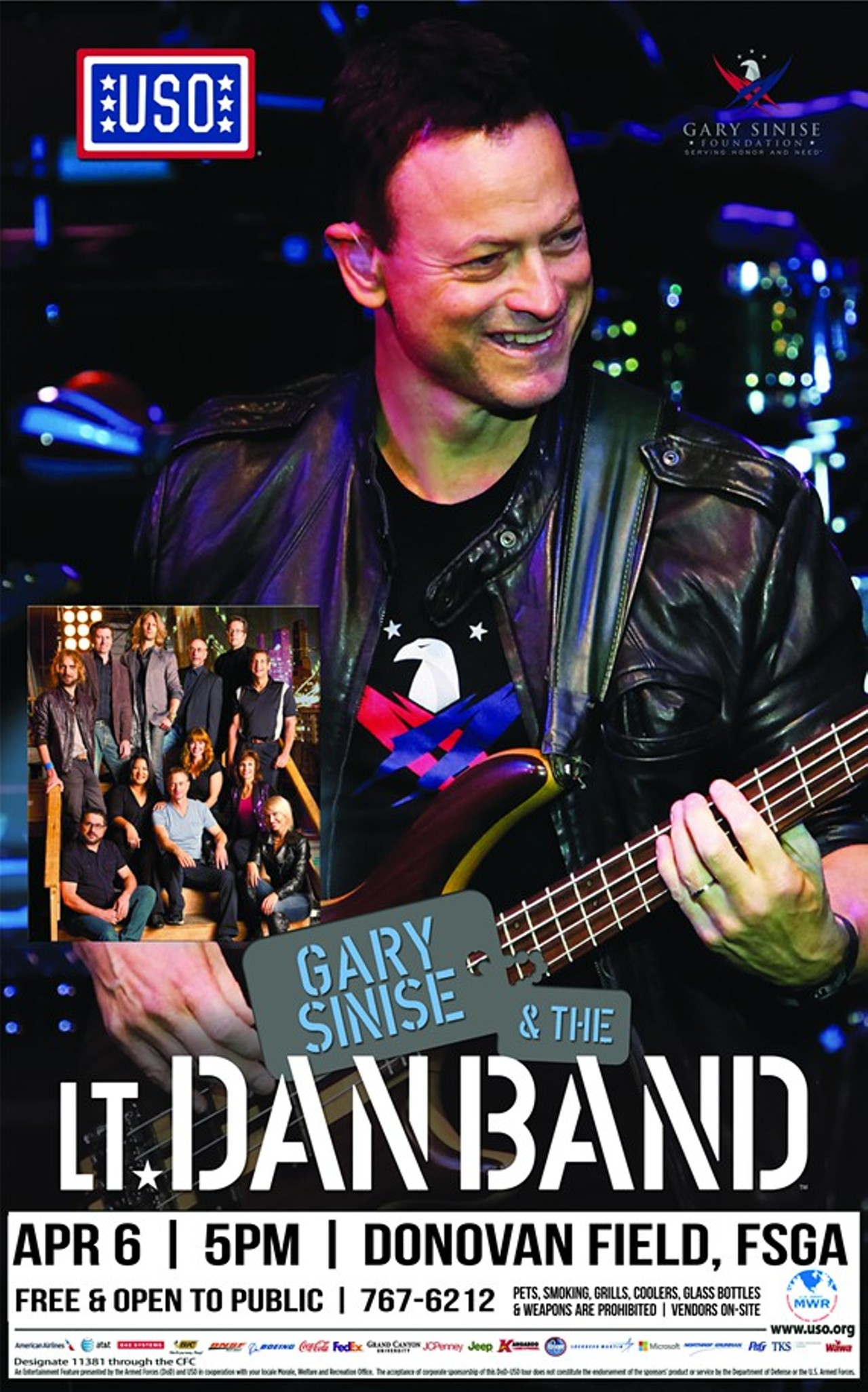 Gary Sinise and the Lt. Dan Band Concert | Donovan Field ...