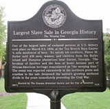 Georgia Historical Society recently erected this marker at Augusta Avenue and Dunn Street on the city's Westside, close to the spot of the sale.