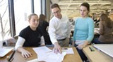 """Georgia Tech professor David Green (center) works with students at Georgia Tech on planning and design. He brings his """"non-dogmatic"""" approach to Good Urbanism 101."""