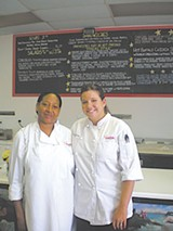 Gloria Clements, cafe manager, and Rachel Petraglia, cafe director