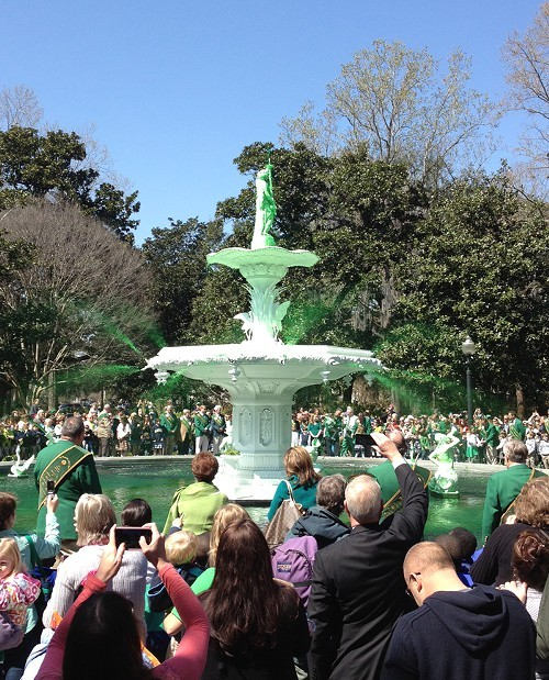 Greening of the Forsyth Park Fountain