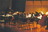 Gretchen Frazier conducts one of the Lyric Ensembles last Tuesday at AASU