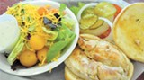 Grilled chicken sandwich and salad from Bull Street Eatery