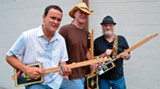 Have a cigar: Guitarists Culberson, left, Shiver and Swindell. (Photo: Bill DeYoung)