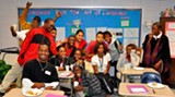 Hubert Middle School students who are participating in the Deep writing workshops