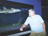 Interim Director Bob Williams checks out a nurse shark