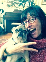 It took 20 tries and a bag of liver treats to get Clarabell to cooperate for this selfie. Be glad it's not scratch n' sniff.