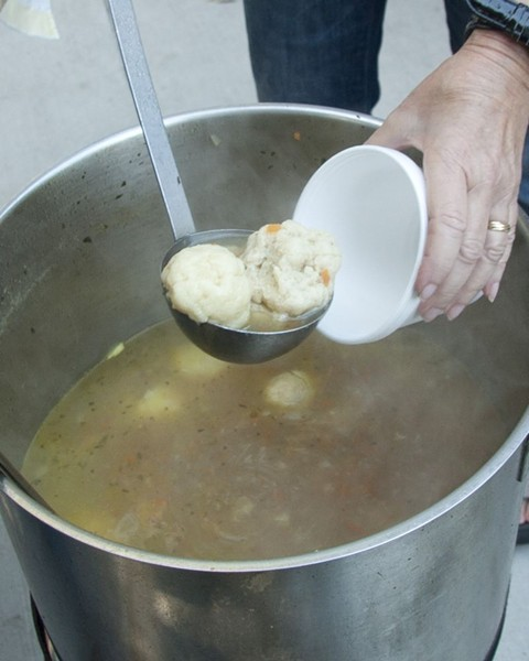 It wouldn't be the Shalom Y'all Jewish Food Festival without many vats of delicious and medicinal matzah ball soup. Photo by Becky Smith/Photos By Becky