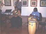 Jam session during exhibition