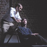 Joseph J. Baez and Christopher Heady rehearse a scene