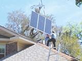 JACK STAR - Julian Smith installs a solar panel