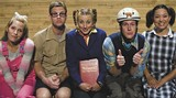 "Kidding around: ""Spelling Bee"" contestants Michelle Meece, left, Richie Cook, Gretchen Kristine Stelzer, Matthew Meece and Shannon Kuanfung."