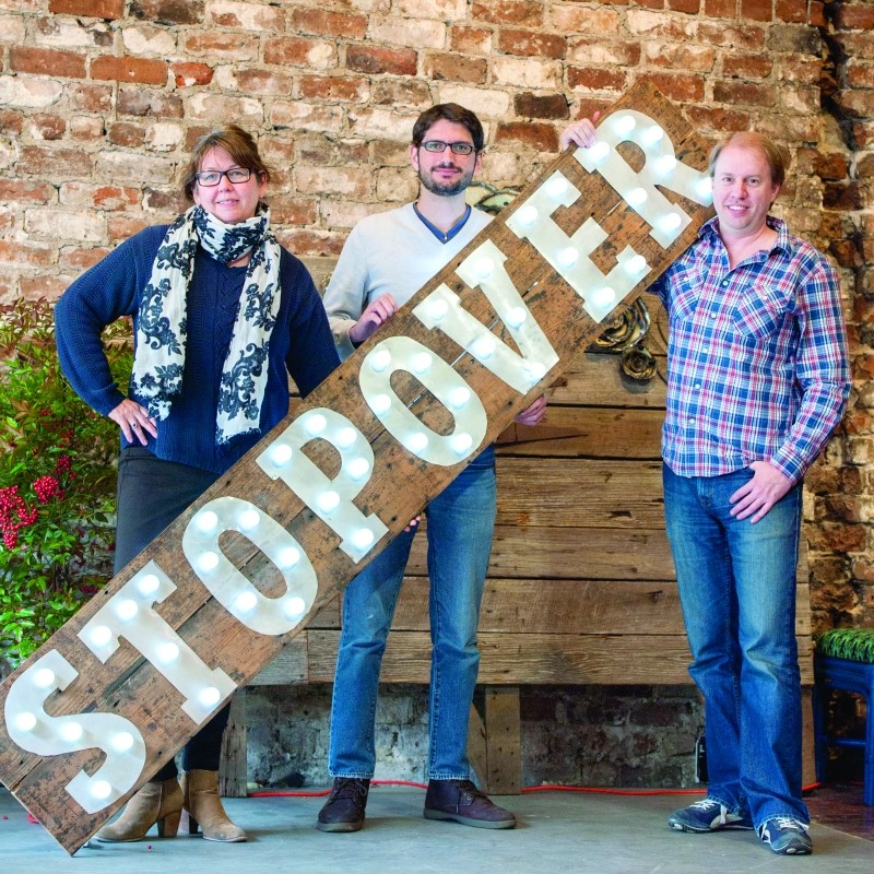 Lanahan, Roubado, and Kueker are the folks holding up Stopover. - GEOFF L. JOHNSON