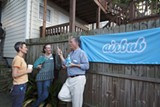 Local hosts commiserate at a local Airbnb get-together