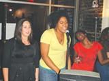 Mallory Martin, Vaida Morgan and Roshelle Frazier at Hang Fire