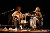 """Marshall and Chris Thile. """"When a kid like that bubbles up out of nowhere, word spreads right away."""""""