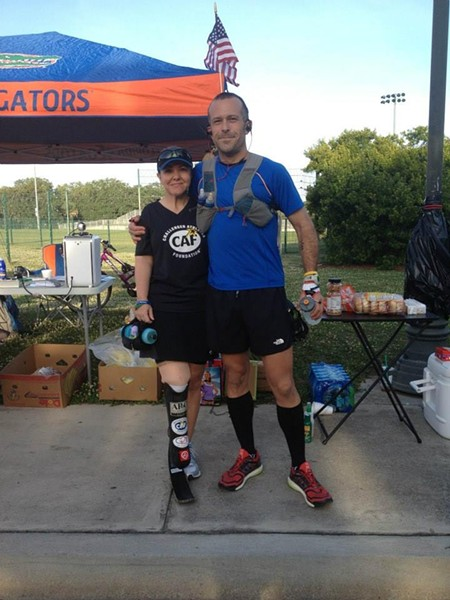Masumi Herota & Kelly Luckett at the 24 Hour Run for Challenged Athletes Foundation at Daffin Park