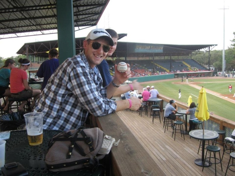Matt Kohler at a Sand Gnats game, one of his favorite pastimes.