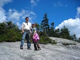 Me and Sophia at the top of Wheeler Mountain in Vermont