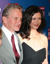 JIM MOREKIS - Michael Douglas and Catherine Zeta-Jones on the red carpet on Broughton Street Saturday night