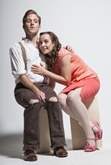 Michael Sterling Miller and Laura Spears head the cast of Urinetown.