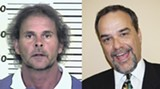 Not even close: McLeod, left, in his police mug shot, and your falsely accused reporter