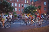 Photos from past editions of the Midnight Garden Ride, courtesy of the Savannah Bicycle Campaign.
