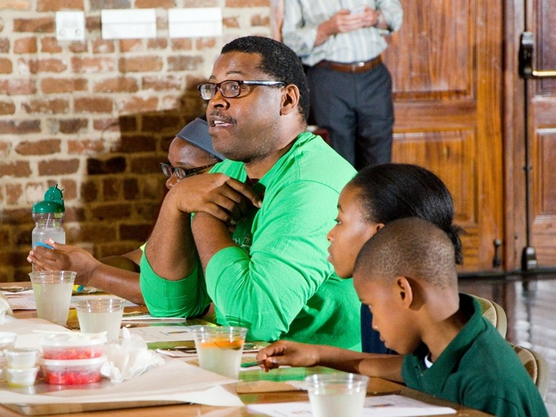 Reginald Franklin's children Joshua and Ryanne joined their father at the August reunion of the first group of participants in the Canyon Ranch Institute Life Enhancement Program. When participants share what they learn about making healthy choices with family and friends, the positive impact of the program is amplified. Photo by Jim Byous. © Canyon Ranch Institute.