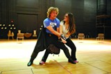 JESSICA LEIGH LEBOS - Rehearsing one of the intricate stage combat scenes