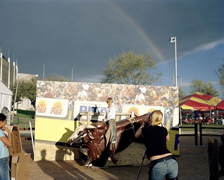 Sara Marcel, Rainbow Bull Rider, Houston, TX from her series 'Rodeo Texas'