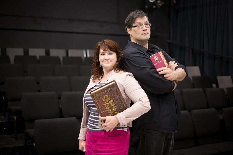 Sheila Lynne Bolda and Chris Soucy at Muse Arts Warehouse. - MEGAN JONES