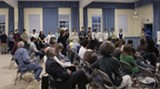 Shots from a recent public presentation on Tybee Island by representatives of SCAD's Sustainable Design classes